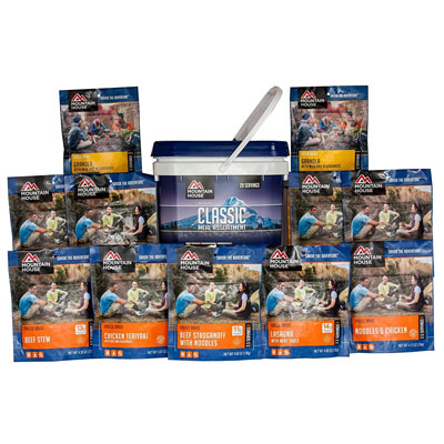 Best Emergency Survival Food Kits and Emergency Meal Kits Mountain House Just in Case Classic Meal Assortment