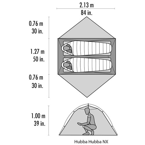 The Ultimate Guide to the Best Survival Tent Options - MSR Hubba Hubba NX 2 Person Tent Dimensions