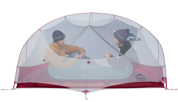 The Ultimate Guide to the Best Survival Tent Options - MSR Hubba Hubba NX 2 Person Tent Interior