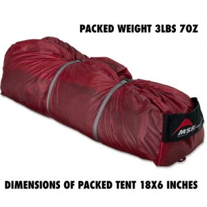 The Ultimate Guide to the Best Survival Tent Options - MSR Hubba Hubba NX 2 Person Tent Packed
