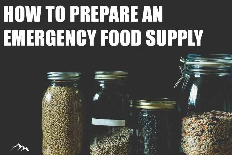 emergency food storage - how to prepare an emergency food supply pantry